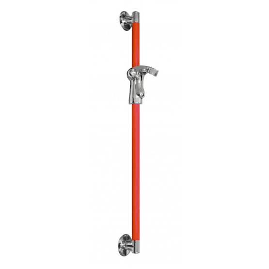 PRESTIGIO STRAIGHT GRAB BAR AND SHOWER HOLDER CHERRY RED | Tap and Fix